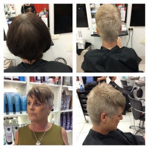 Before and after images of dull hair to amazing style cut and colour- Keturah Hair Design-hair salon Browns Plains 0448749647.