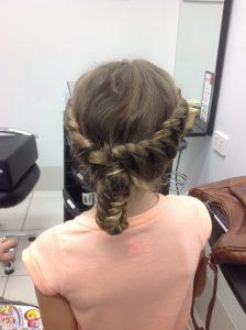 Braids wound together for kids- Keturah Hair Design-hair salon Browns Plains 0448749647.