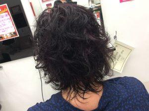 Dark hair with red colour blended in- Keturah Hair Design-hair salon Browns Plains 0448749647.