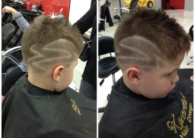 Kids style cut and hair tattoo- Keturah Hair Design-hair salon Browns Plains 0448749647.