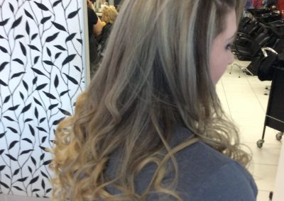 Long dark brown hair with golden blonde colours- Keturah Hair Design-hair salon Browns Plains 0448749647.