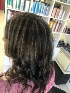 Long dark hair with blonde highlights- Keturah Hair Design-hair salon Browns Plains 0448749647.