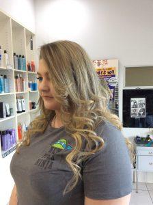 Long sandy blonde hair wtih curls- Keturah Hair Design-hair salon Browns Plains 0448749647.