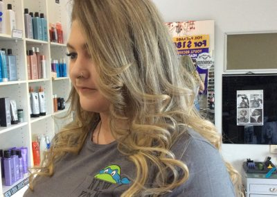 Long sandy blonde hair wtih curls- Keturah Hair Design-hair salon Browns Plains 0448749647.