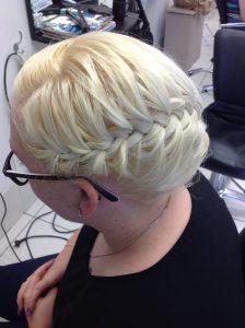 Platinum blonde hair braided- Keturah Hair Design-hair salon Browns Plains 0448749647.