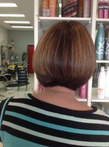 Rear view of short hair with new style cut- Keturah Hair Design-hair salon Browns Plains 0448749647.