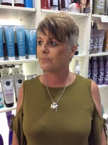 Short style cut with grey sides and brown on top- Keturah Hair Design-hair salon Browns Plains 0448749647.