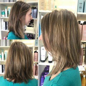 Shoulder length light brown hair- Keturah Hair Design-hair salon Browns Plains 0448749647.
