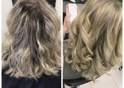 hair root treatment and style cut for honey blonde hair- Keturah Hair Design-hair salon Browns Plains 0448749647.