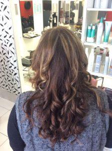 medium brown hair with curls- Keturah Hair Design-hair salon Browns Plains 0448749647.