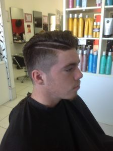 teenage boy-young man with style cut and hair tattoo- Keturah Hair Design-hair salon Browns Plains 0448749647.