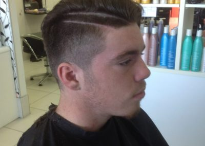 teenage boy-young man with style cut and hair tattoo- Keturah Hair Design-hair salon Browns Plains 0448749647.